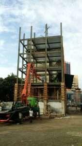 Proses Pengecoran gedung STAI Darunnajah lt 5 dan 6, 24 Maret 2016