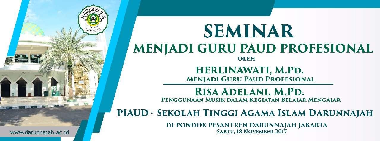 Seminar Menjadi Guru PIAUD Profesional